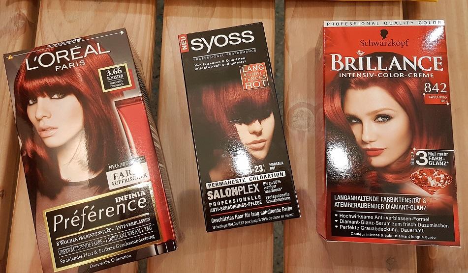 Haare rot färben